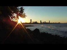 Sunset at Burleigh Heads Australia, Sunset, Videos, Beach, Water, Outdoor, Gripe Water, Outdoors, The Beach