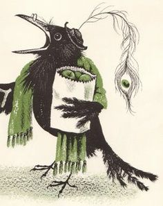 """The Crows of Pearblossom"" the infamous Children's Book by Aldous Huxley and illustrated in 1967 by Barbara Cooney.   *****love!****  :)"