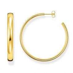 e4f4d3900 Thomas Sabo Gold Classic Large Hoops made from Yellow Gold Plated. Colour:  Gold Plated