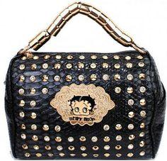 Betty Boop® Rhinestone & Stud Croco Handbag – Handbag Addict.com