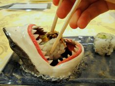 Great White Shark Sushi Plate - Take My Paycheck - Shut up and take my money! | The coolest gadgets, electronics, geeky stuff, and more!