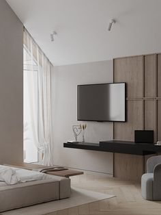 H Design, Floor Design, House Design, Interior Design Inspiration, Home Interior Design, Interior Architecture, Home Bedroom, Bedroom Decor, Hotel Room Design