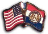 Missouri - State Friendship Pin by Flagline.com. $2.25. Friendship lapel pin. Includes your state flag and the flag of the USA in a single pin.