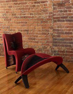 Seat Belt Furniture by Phillips Collection Vintage Outdoor Furniture, Unusual Furniture, Victorian Furniture, Deco Furniture, Recycled Furniture, Furniture Layout, Classic Furniture, Cheap Furniture, Furniture Makeover
