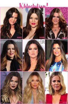Dicas de cuidados com o cabelo inspirados no loiro de Khloé Kardashian. Segredos da transição capilar e como mudar com louvor, tudo ilustrado com o histórico da Khloé, que mudou a olhos vistos nos últimos 10 anos