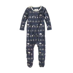 Baby footsie coverall in giraffes