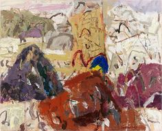Elisabeth Cummings - The Purple Hill, Flinders, 2011 Abstract Landscape Painting, Landscape Art, Landscape Paintings, Abstract Art, Abstract Paintings, Landscapes, Australian Painters, Australian Artists, National Art School
