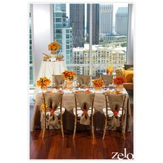 Burlap Runner and chair covers with the teal and coral accents...(not the orange)