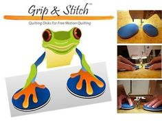 Grip & Stitch Free Motion Machine Quilting Disks Clever Craft Tools