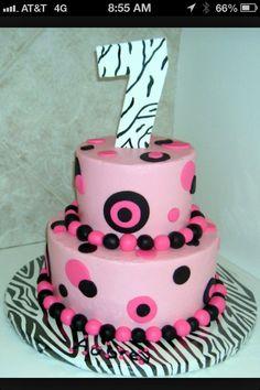 Birthday cake for 7th birthday