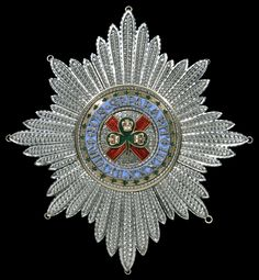 Order of St. Patrick - Star (Rundell Bridge & Rundell, 115 x 112mm, circa 1810-15)
