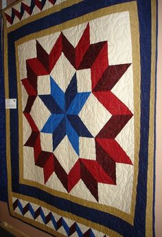 A lady from Dakota Star County Quilters made this for Quilts of Valor. Added borders to make it 60 x 70.