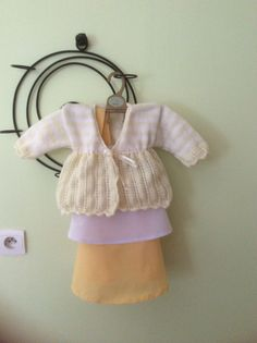 Lacy cardigan with ribbon tie.