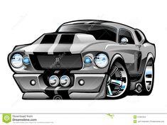 Resultado de imagem para mustang car comic