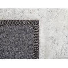 Teppich weiß 140 x 200 cm Hochflor Cide Beliani