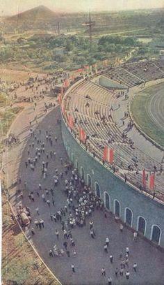 Стадион «Шахтер». Перед матчем. Донецк, 1962 год