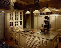 Crazy Tips: Kitchen Remodel Modern Stainless Steel kitchen remodel flooring plans.Kitchen Remodel Tips Back Splashes kitchen remodel pantry food storage.Small Kitchen Remodel On A Budget. Red Country Kitchens, Country Kitchen Cabinets, Country Kitchen Designs, Custom Kitchen Cabinets, Primitive Kitchen, Kitchen Cabinet Design, Rustic Kitchen, French Kitchen, Narrow Kitchen