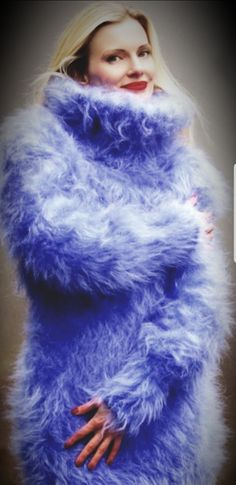 Gros Pull Mohair, Mohair Sweater, Cardigans, Sweaters, Furs, Knit Dress, Fur Coat, Girly, Beautiful Women