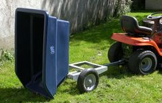 ATV trailer 250 litres fully tipped.  suitable for ATV quad bikes, compact tractors, ride-on lawn mowers and UTVs. For more info contact us at http://www.fresh-group.com/trailers-trolleys-and-carts.html