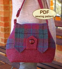 Sewing pattern to make the Home Front Bag PDF by charliesaunt                                                                                                                                                                                 More