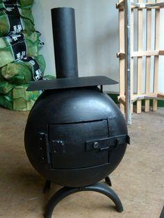 Woodburner Gas Bottle Stove 2kW, For Sheds, Workshops, Garages, Greenhouses etc