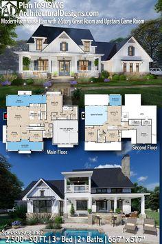 New House Plans, Dream House Plans, House Floor Plans, My Dream Home, Dream Houses, Home Plans, Home Building Plans, House Plans 2 Story, House Plan With Loft