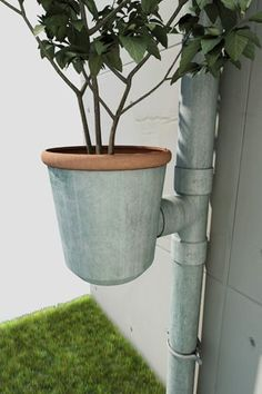 20 Easy DIY Gutter Garden Ideas #6 Is for You Flowers, Plants & Planters Garden Decor