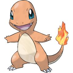 Charmander, the Lizard Pokémon. Charmander's health can be gauged by the fire on the tip of its tail, which burns intensely when it's in good health.