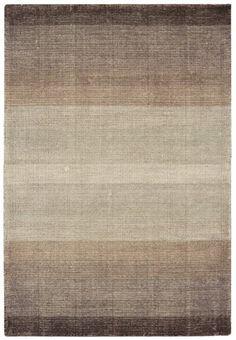 Teppich Wohnzimmer Carpet Flachgewebt Kurzflor Design HAYS STREIFEN RUG 60 Wolle 40 Baumwolle 200x300