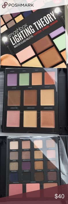 Smashbox lighting theory palette NWT Complete face palette from smashbox. Includes eyeshadow, blush, color corrector, contour, and highlighter with inserts that provide tips and instructions. Purchased from sephora, unswatched Sephora Makeup