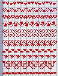 27 Fantastic Designs For Cross Stitch Boarders, Cross Stitch Heart, Cross Stitch Alphabet, Cross Stitch Flowers, Cross Stitch Designs, Cross Stitching, Cross Stitch Embroidery, Cross Stitch Patterns, Fair Isle Knitting Patterns