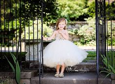 Flower girl tutu dress PAISLEY vintage lace by ChicSomethings, $90.00