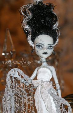 Custom Bride of Frankenstein Monster High Doll by animallows