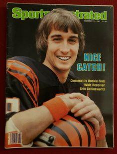 1981 NFL CINCINNATI BENGALS ROOKIE CRIS COLLINSWORTH Sports Illustrated NO LABEL