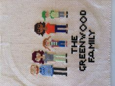 Super cute idea!!! Cross stitch family