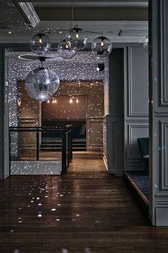 Helsinki Nightlife. Love this nightclub by designer Joanna Laajisto. #interiordesign #discoball: