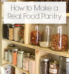 @FitToSavor Says: love the idea of using glass jars to store all pantry items