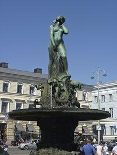 Havis Amanda water statue, Market Square, Helsinki, Finland