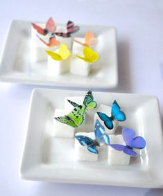 Itsy Bitsy Mini Edible Butterflies - Rainbow Assortment set of 48 - for Cake Decorating and Cupcake Toppers on Etsy, $10.50