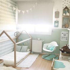 Kids room inspo: small bed house #lahabitacióndenicolás