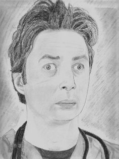 Zach Braff 30 Fan Made Tributes Bad Fan Art, Unusual News, Fan Drawing, Very Funny Pictures, Crazy Fans, Colored Pencil Techniques, Celebrity Drawings, Good Find, Horse Drawings