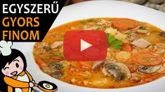 Bakonyi betyárleves - Recept Videók Thai Red Curry, Cake Recipes, Make It Yourself, Dinner, Ethnic Recipes, Food, Youtube, Chowders, Meat