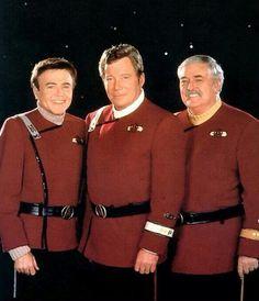 Chekov, Kirk and Scotty, Star Trek Generations.