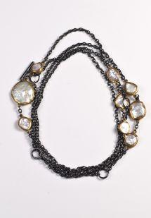 Lika Behar Keshi Pearl and 22k Gold Necklace
