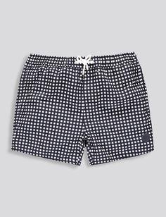 Mens Swimwear | Grid Print Swims | Native Youth