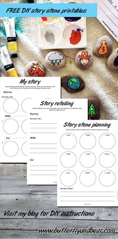 Download the printables that go with making your own story stones by clicking on the image. #DIY #Educational #kids
