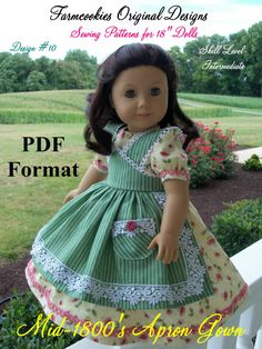 PDF Sewing Pattern for American Girl Marie Grace by Farmcookies
