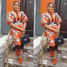 Ankara Short Gown Styles 2018 for Bright Ladies