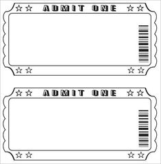 Movie Ticket Template For Word 6 Templates To Design Customized Tickets Cyberuse 40 Free Editable Raffle