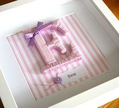 Framed Yarn Wrapped Letter in Custom by PaperScissorsDesign